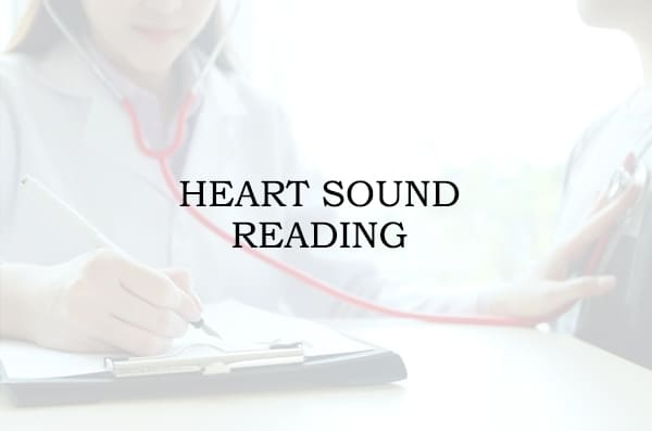 Heart sound reading
